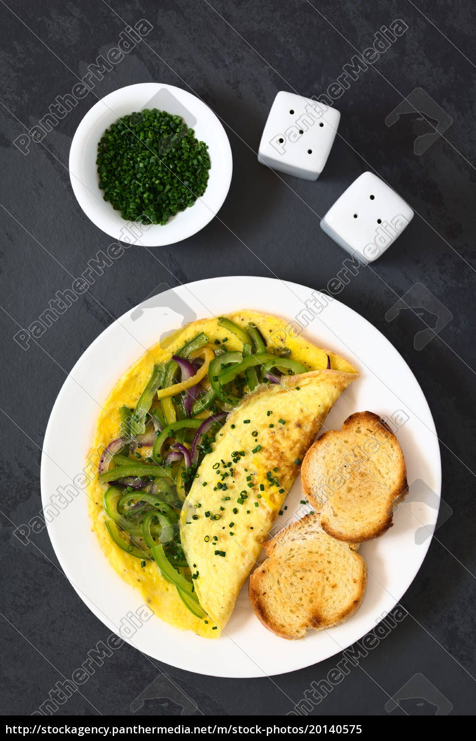 omelette, with, pepper, and, onion - 20140575