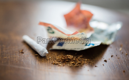 close up of marijuana joint and