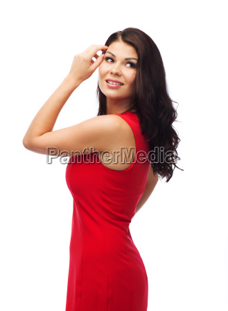 beautiful sexy woman in red dress