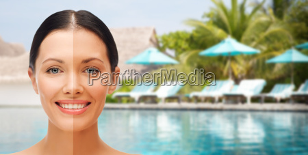 close up of beautiful woman with