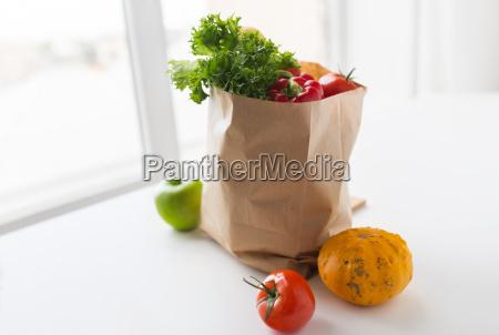 basket of fresh ripe vegetables at