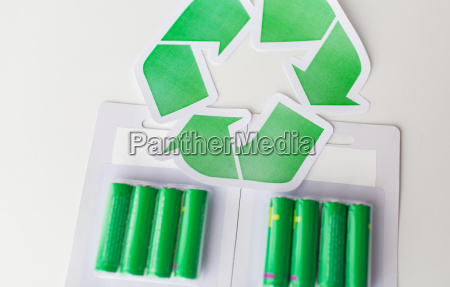 close, up, of, batteries, and, green - 20147291