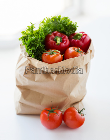 close up of paper bag with