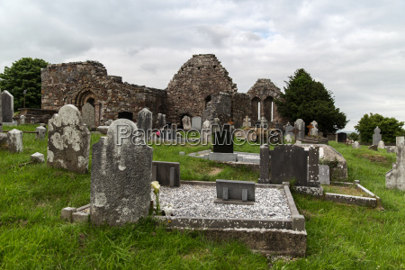 old, celtic, cemetery, graveyard, in, ireland - 20149207