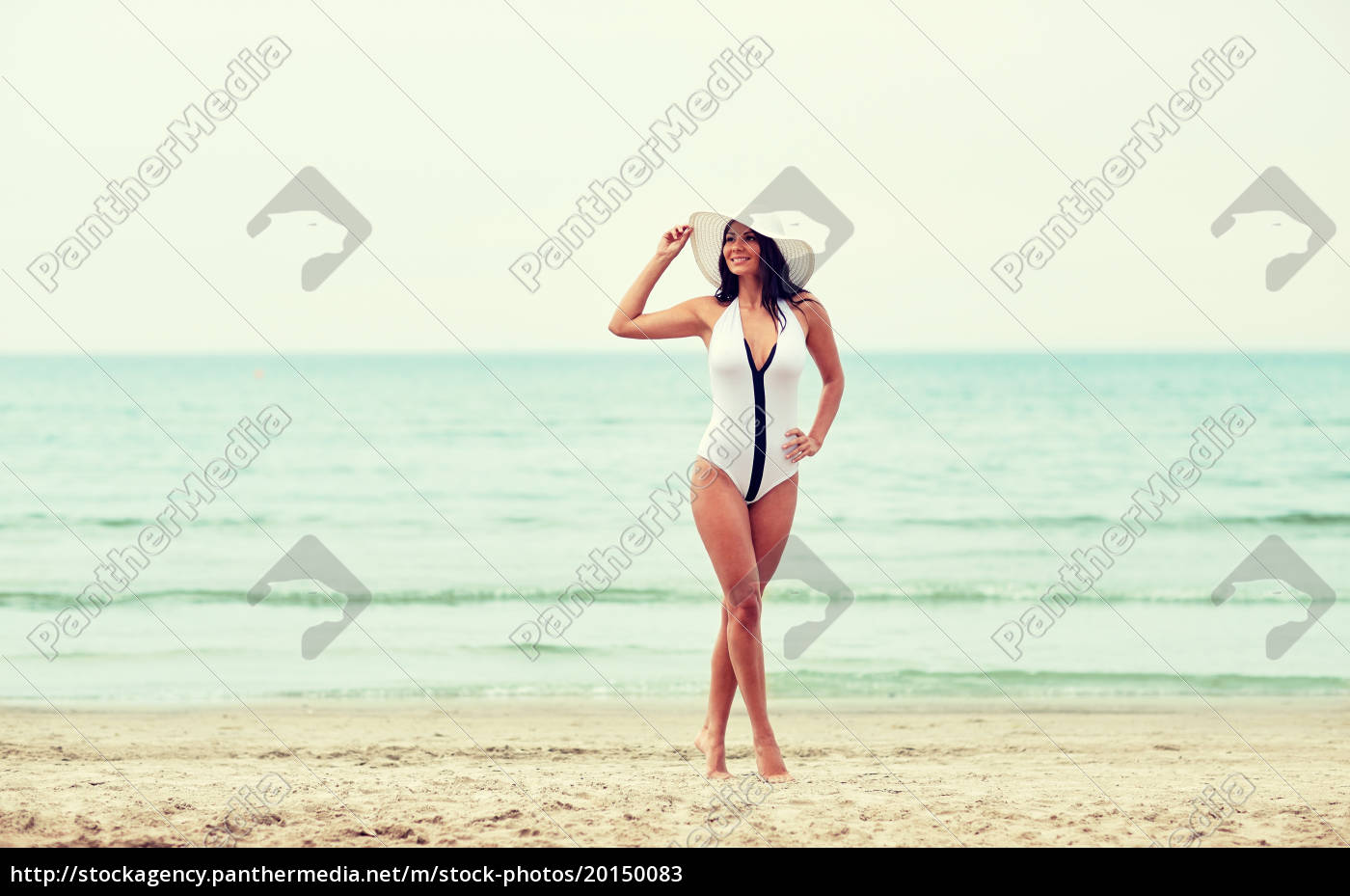 young, woman, in, swimsuit, posing, on - 20150083