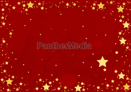 stars and red grunge background