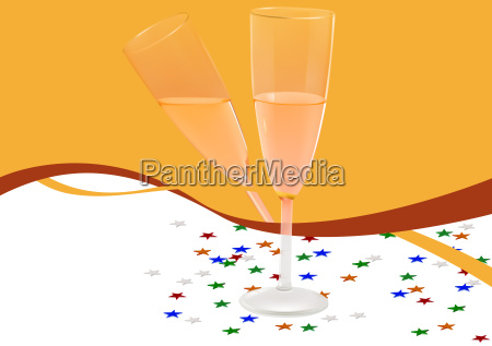 champagne glasses celebration background