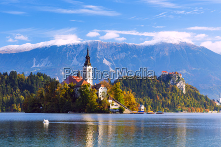 bled with lake slovenia