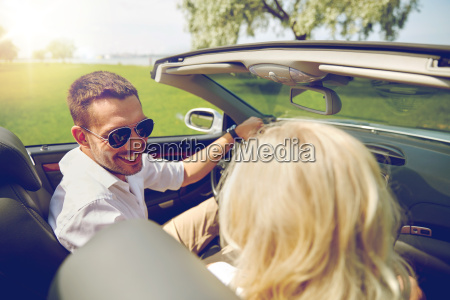 happy, man, and, woman, driving, in - 20154423