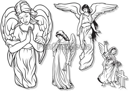 female angel set