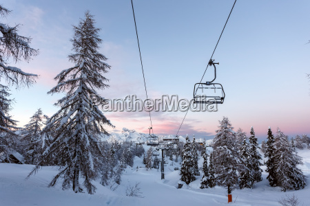 vogel ski center in mountains julian