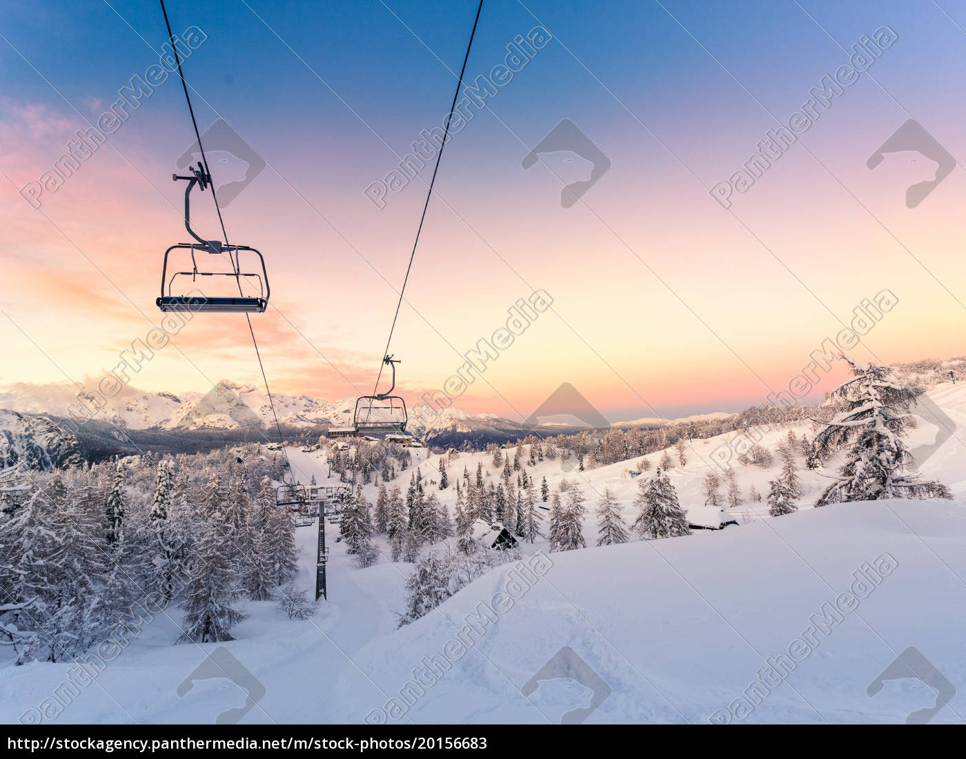 winter, mountains, panorama, with, ski, slopes - 20156683