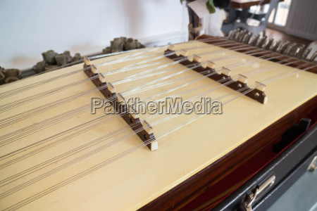 wooden thai dulcimer traditional musical instrument