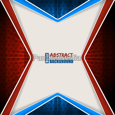 abstract red blue brochure with stripes