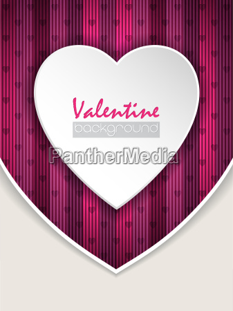 valentine day greeting with pink background