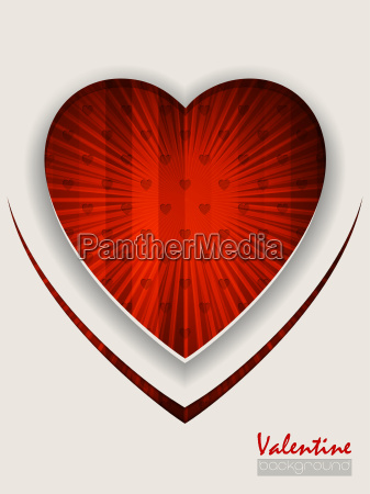valentine day greeting with bursting red