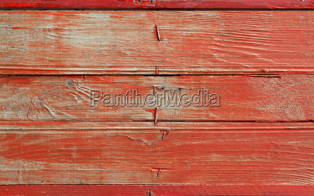 red vintage grunge painted wooden plank