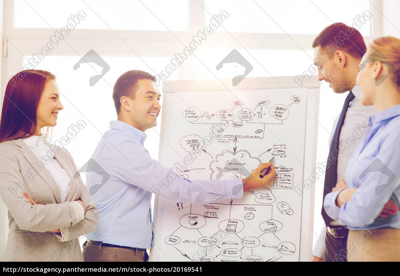 business, team, discussing, something, in, office - 20169541