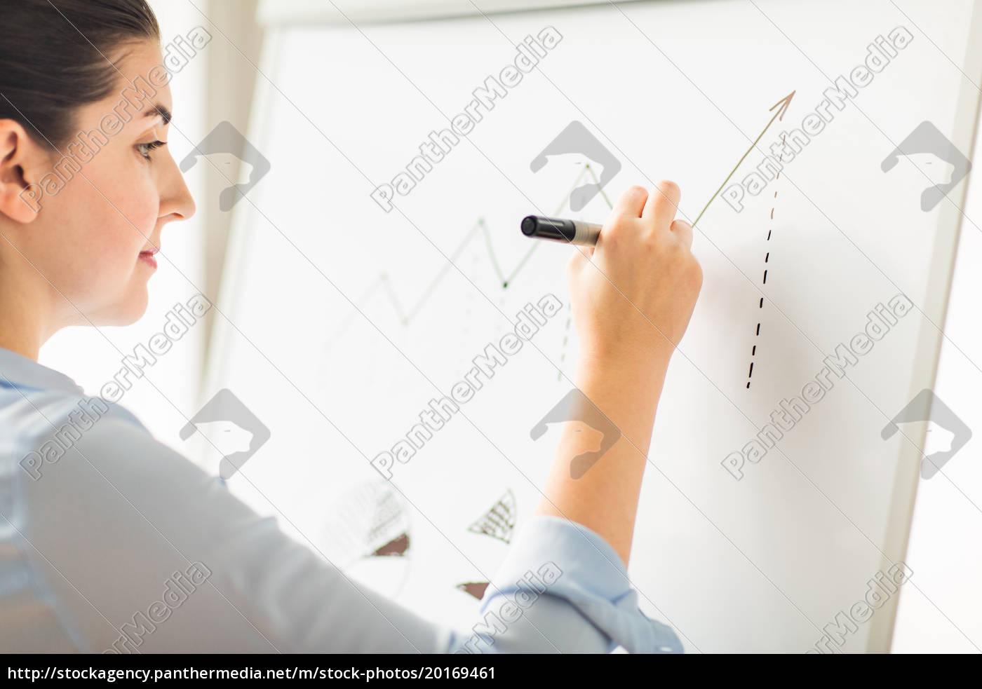close, up, of, woman, drawing, graph - 20169461