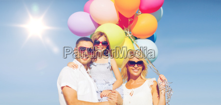 family, with, colorful, balloons - 20169699