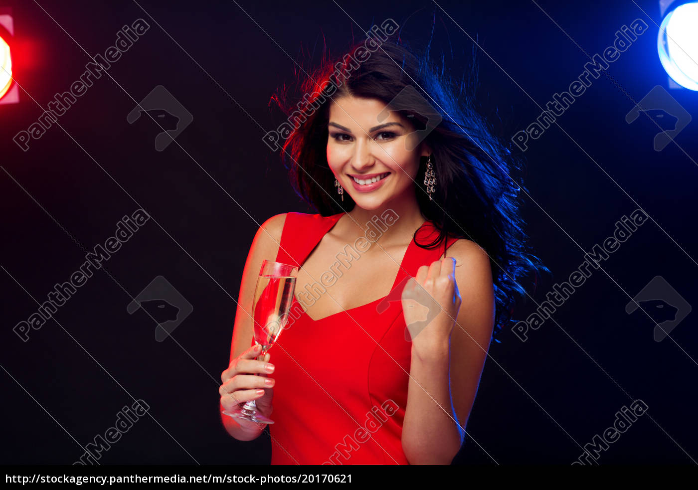 beautiful, woman, with, champagne, glass, at - 20170621