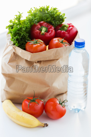 close up of bag with friuts