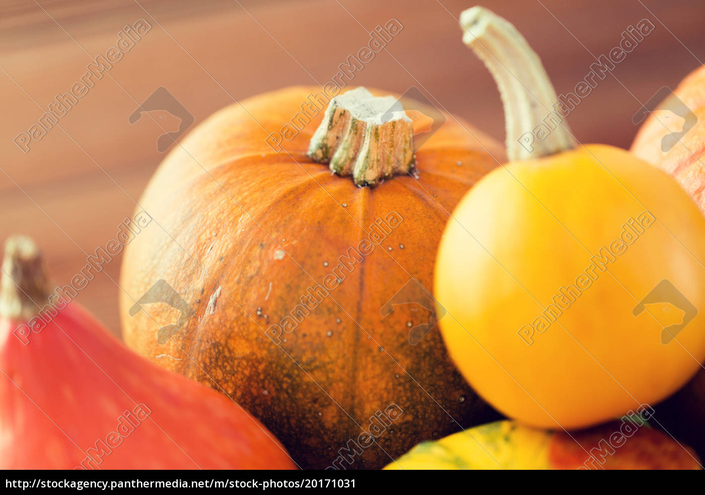 close, up, of, pumpkins, on, wooden - 20171031
