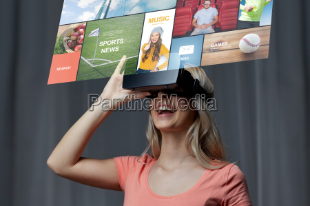 woman, in, virtual, reality, headset, or - 20171197