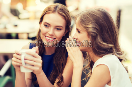 young, women, drinking, coffee, and, talking - 20171359