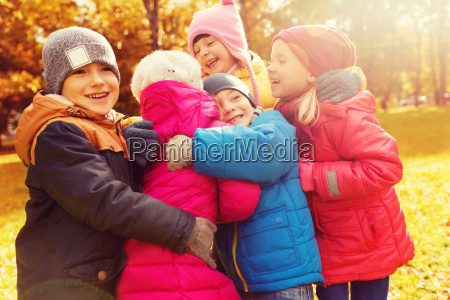 group, of, happy, children, hugging, in - 20172467