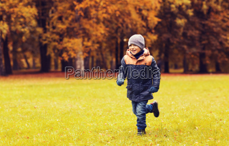 happy, little, boy, running, on, autumn - 20172423