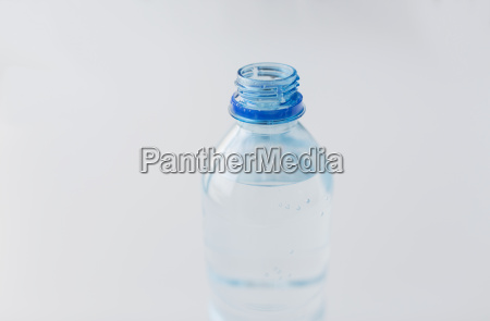 close up of bottle with drinking