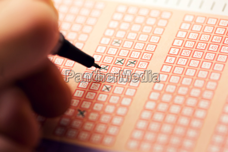 fill out a bingo lotto lottery