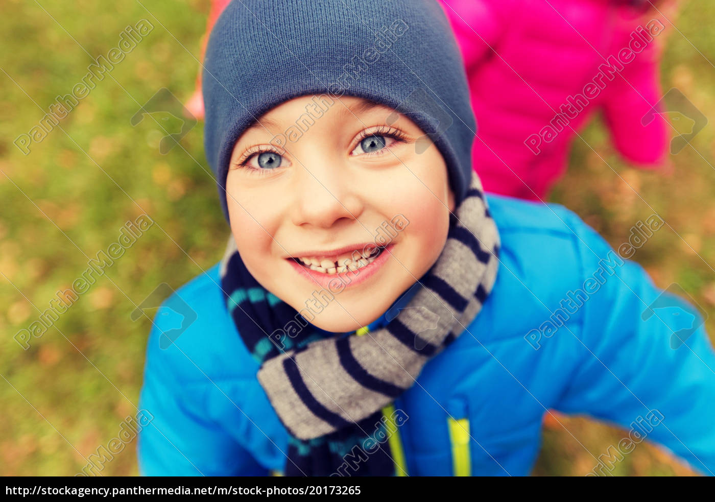 happy, little, boy, face, outdoors - 20173265