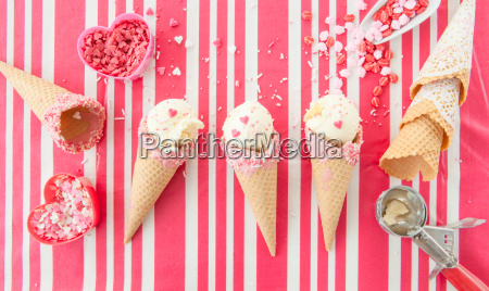 vanilla ice cream with sugar sprinkles
