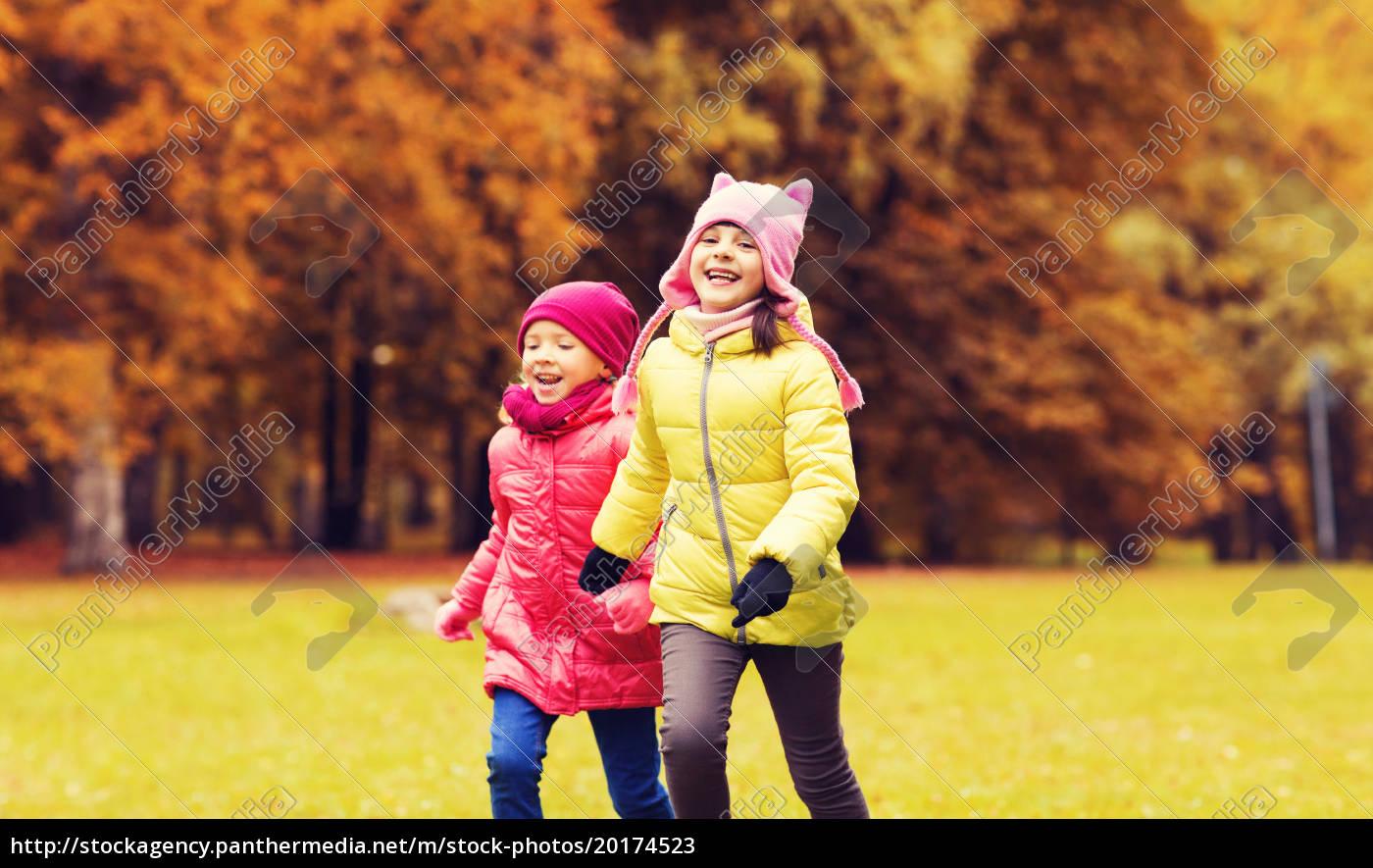 group, of, happy, little, girls, running - 20174523