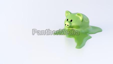 dissolving piggy bank