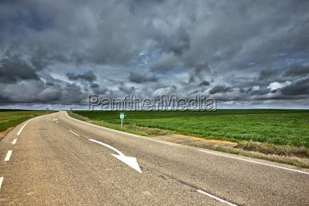 spain province of zamora empty road