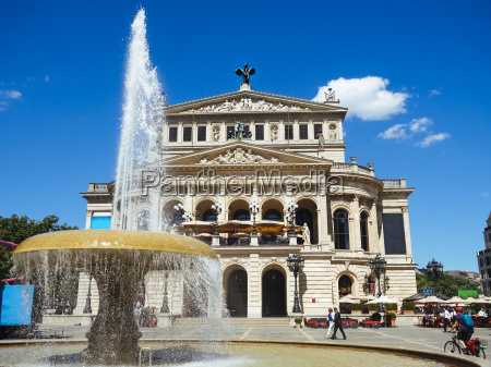 germany frankfurt view to old opera