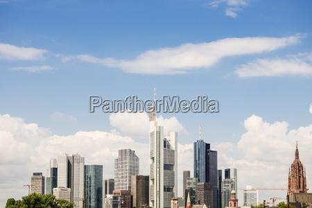 germany frankfurt view to skyline