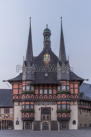 germany wernigerode town hall and market