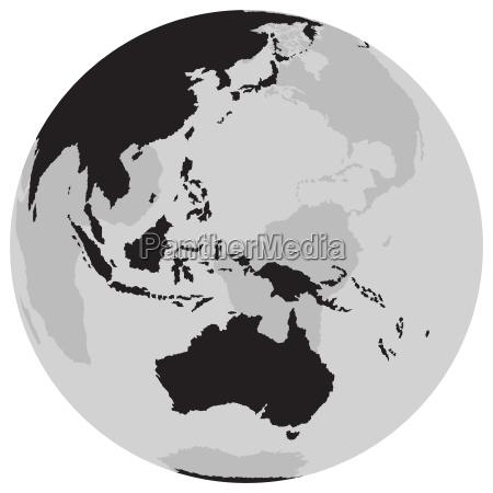 globe australian continent
