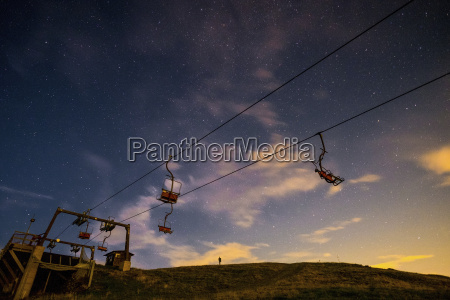 italy bielmonte starry sky and chair