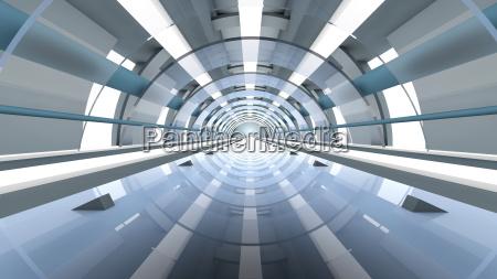 futuristic architecture 3d rendering