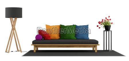 living room furniture on white