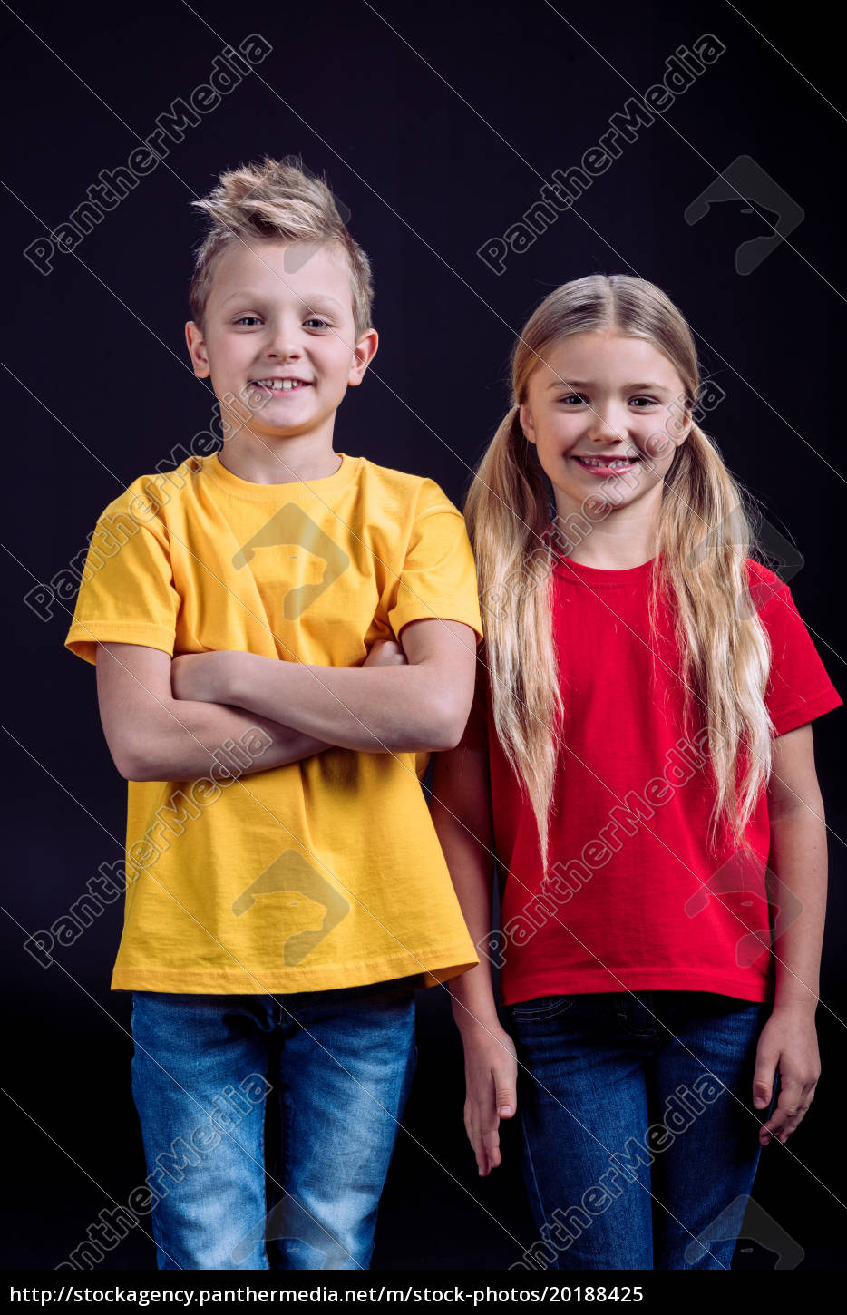 smiling, brother, and, sister - 20188425
