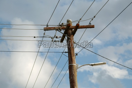 electric lines on mast