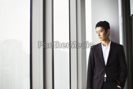 a businessman in the office by