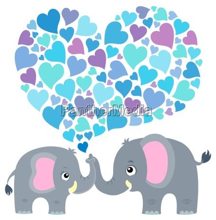 valentine elephant theme image 2
