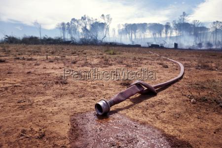 south africa stellenbosch fire hose running